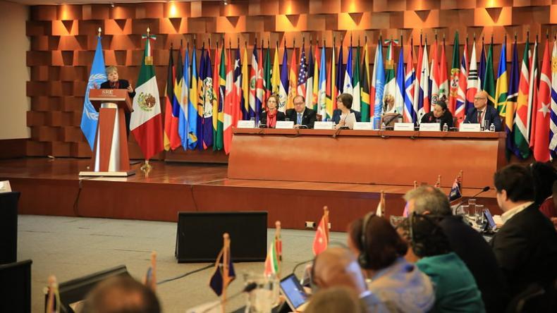 Foto de la Tercera Conferencia Regional sobre Desarrollo Social realizada en México en 2019.
